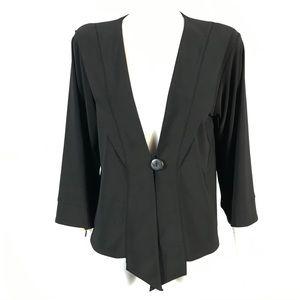Sympli jersey one button blazer